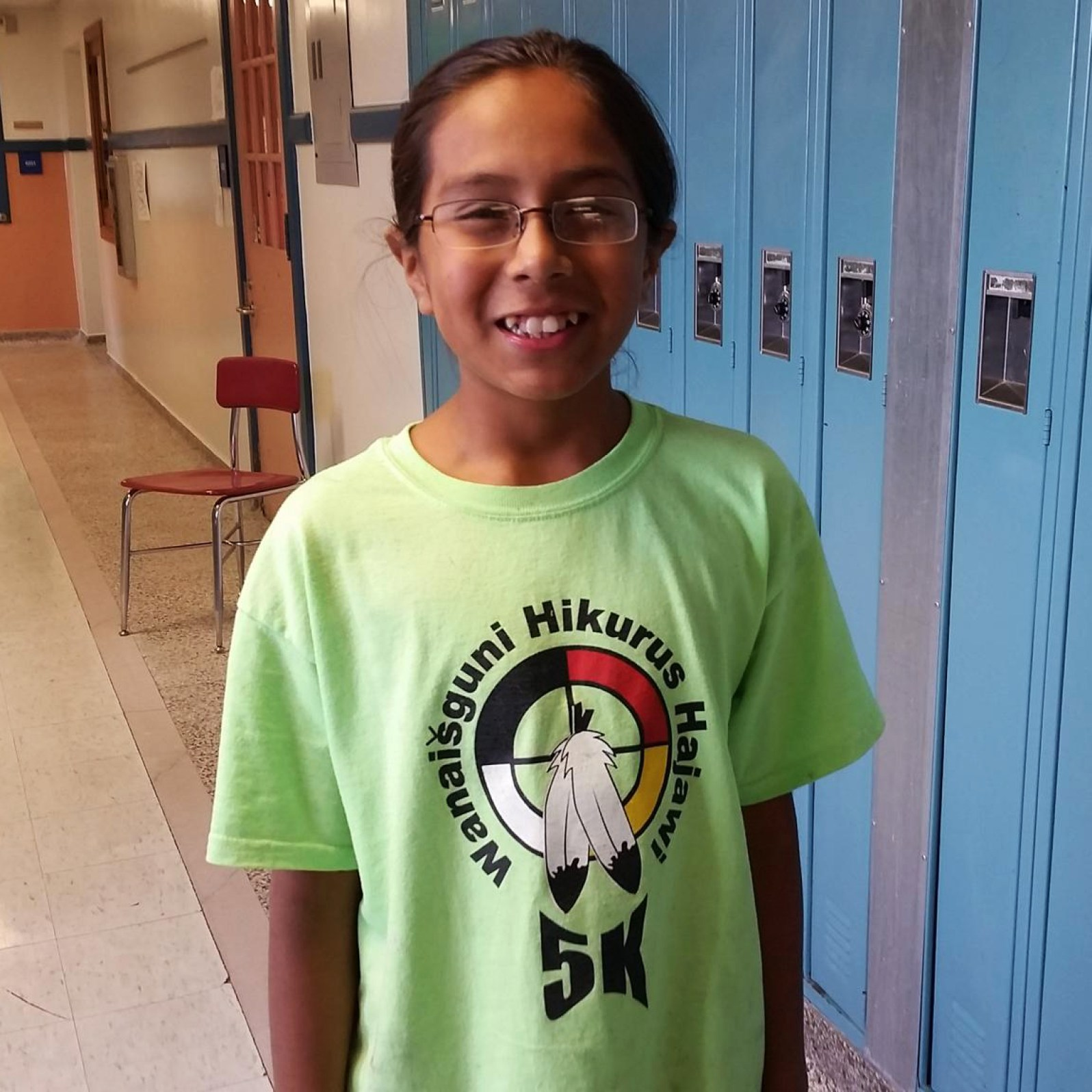 Sixth grader Santino Decory, 11, is representing his fellow native students as an AIMS ambassador. (Next Gen Radio/Angela Nguyen)