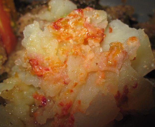 Chef Christy's Nasturtium Butter on Potatoes