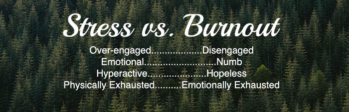 road to burnout stress vs burnout