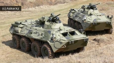 Бронетранспортеры БТР-82 и БТР-82А