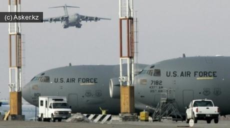 Авиабаза США Манас в Бишкеке