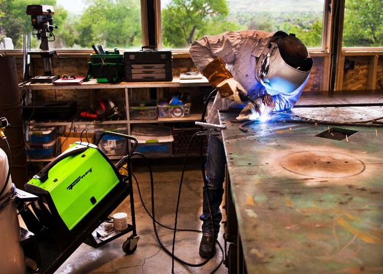 Will Hyde welding with a Forney machine