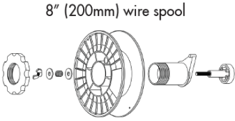 8 Inch (200mm) wire spool