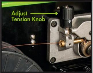 Adjust tension knob