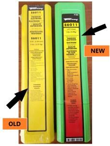 New Vs Old Electrode Packaging