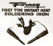 Old Forney Instant Heat Soldering Iron Sign