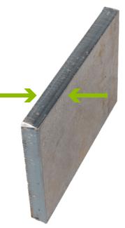 Quarter inch cut