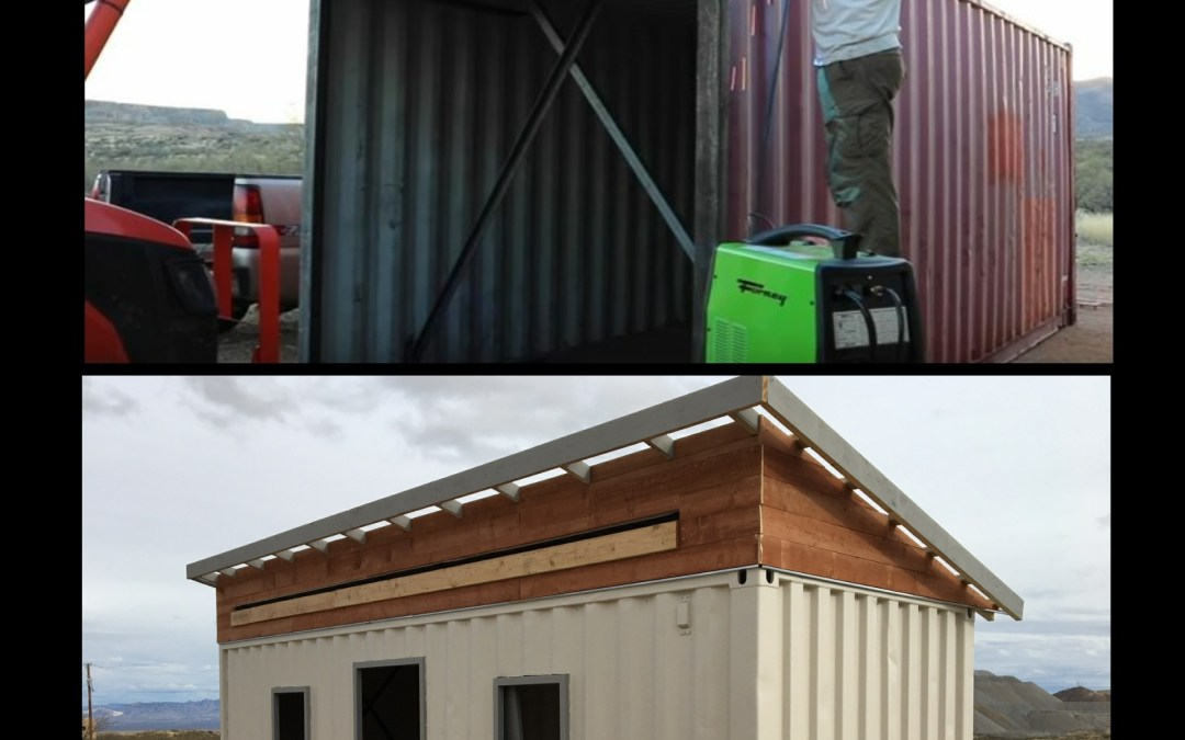 TURNING A SHIPPING CONTAINER INTO A WORKSHOP
