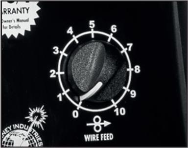 Wire feed speed knob