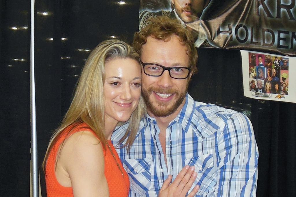 Zoe Palmer and Kris Holden Ried at Comicpalooza 2013