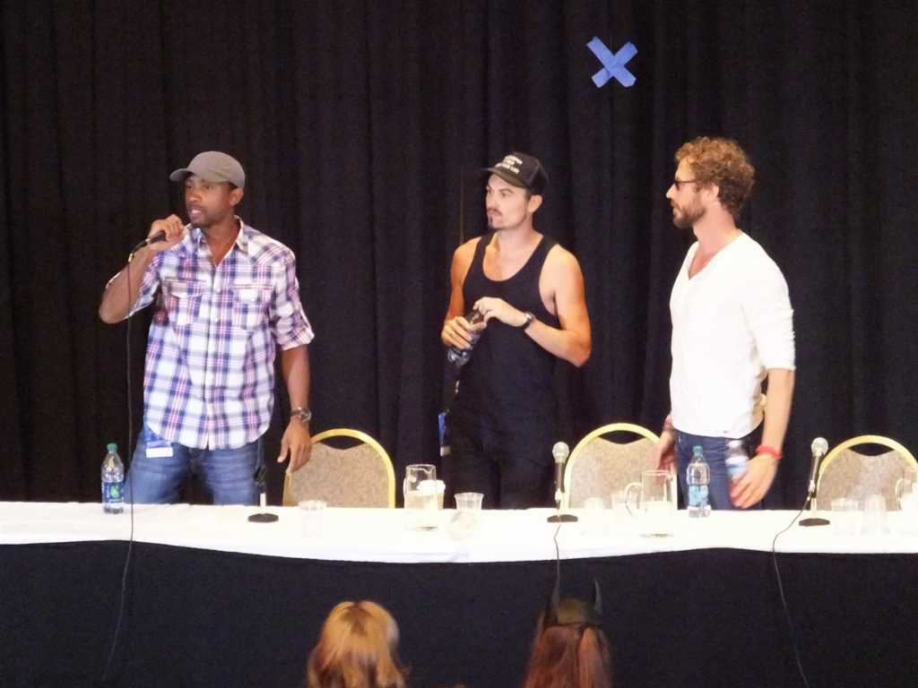 KC Collins Paul Amos and Kris Holden-Ried at DragonCon 2013