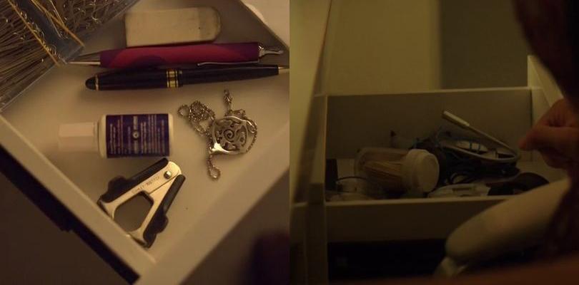 Lauren's drawer in 3x11 & 4x04