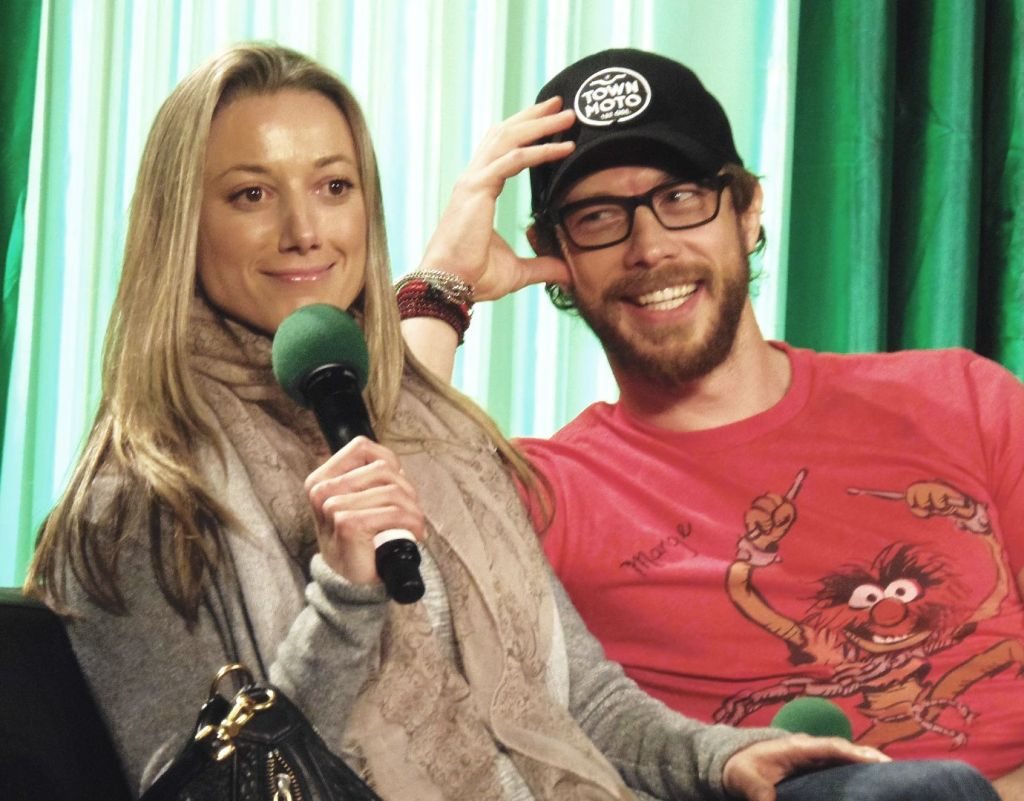 Zoie Palmer and Kris Holden-Ried at ECCC 2014