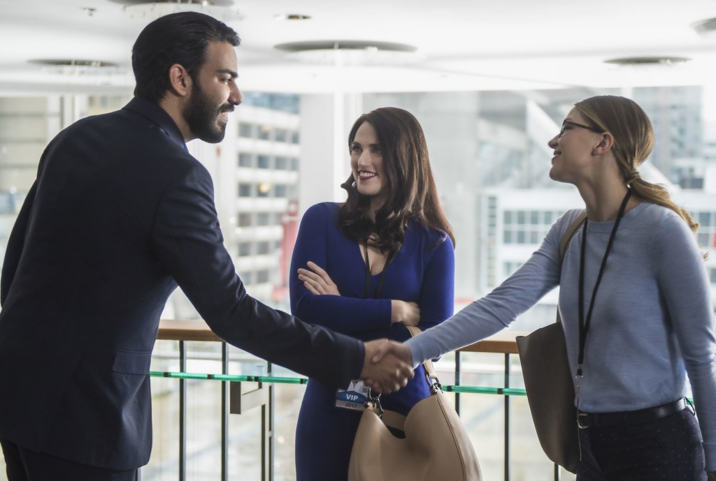 Jack Spheer Lena Luthor and Kara Danvers in Supergirl 2x18