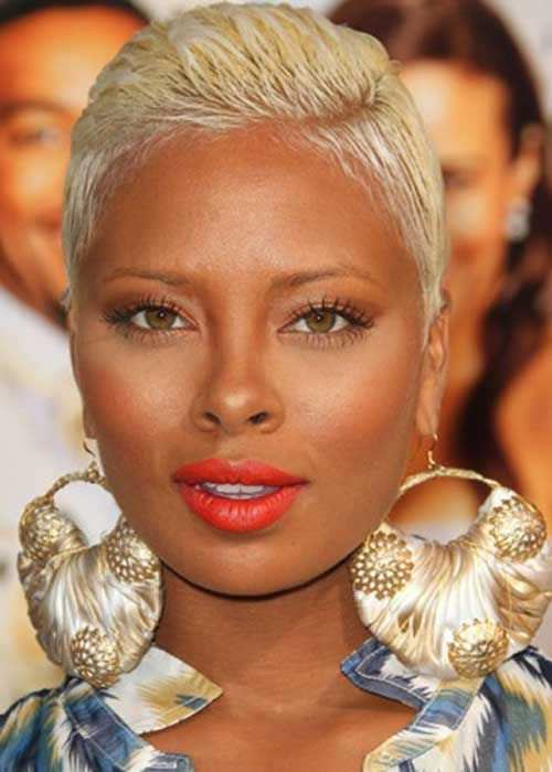 Platinum Blonde Pixie Hairstyles For Black Women Askhairstyles
