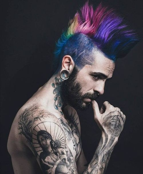 Top Classy Punk Hairstyles For Men