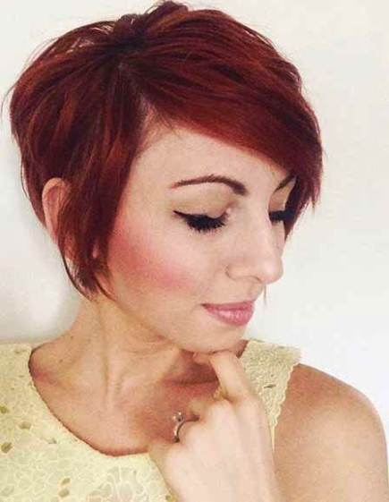 long pixie haircut with bangs 20 pixie haircuts femininity and practicality 5812 | Red Hair with Long Bangs Short Pixie haircuts