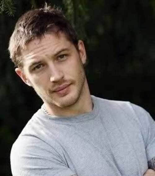 Tom Hardy Short Messy Hairstyle Men Messy Hairstyles