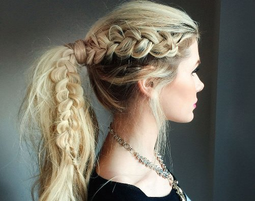 Braided Ponytail Sporty Hairstyles For Women Askhairstyles