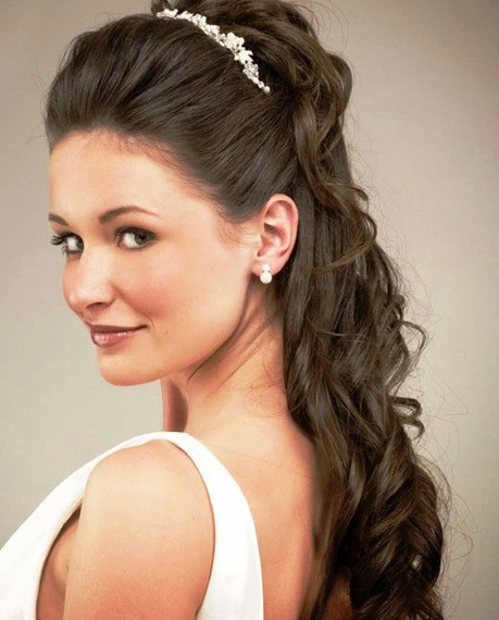 Half Up Straight Hairstyles For Weddings: 20 Best Half Up And Half Down Wedding Hairstyles