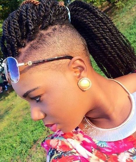 Kinky Twisted Braided Mohawk Updo hairstyles - AskHairstyles