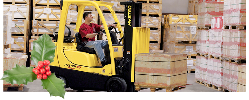 Christmas hyster forklift