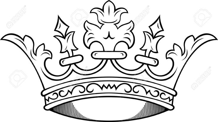king and queen crown drawings sketch coloring page