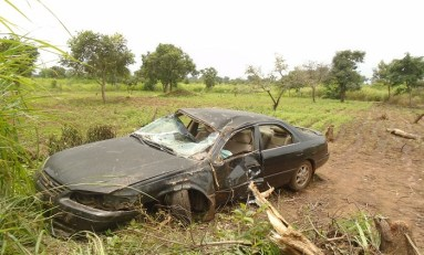 Mystery Car Crash in Benue: victims 'flew away'