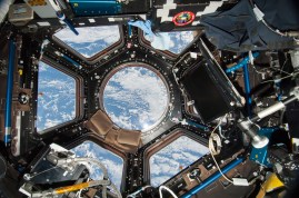 Equipped with seven windows, the station's cupola probably has exponentially more beneficial facets than it has windows. Image Credit: NASA