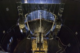 Date: 16 July 2009 Satellite: Gaia Depicts: Deployable sunshield QM inside the Large Space Simulator Location: ESTEC, Noordwijk, The Netherlands Copyright: ESA