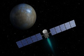 NASA's Dawn spacecraft heading toward the dwarf planet Ceres.