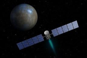 NASA's Dawn spacecraft heading toward the dwarf planet Ceres.