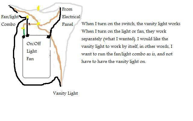 How To Install Switch To Control Vanity Light And Bathroom