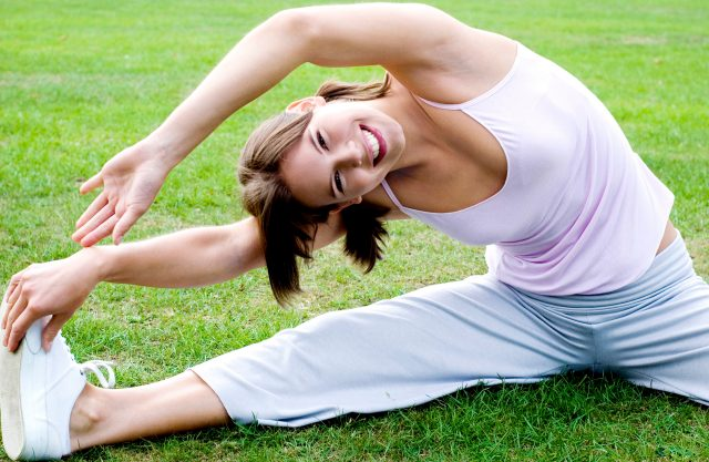 Exercise and meditate as a part of healthy morning habits