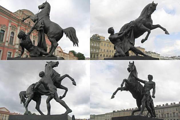 Аничков мост. Скульптуры укротителя коня