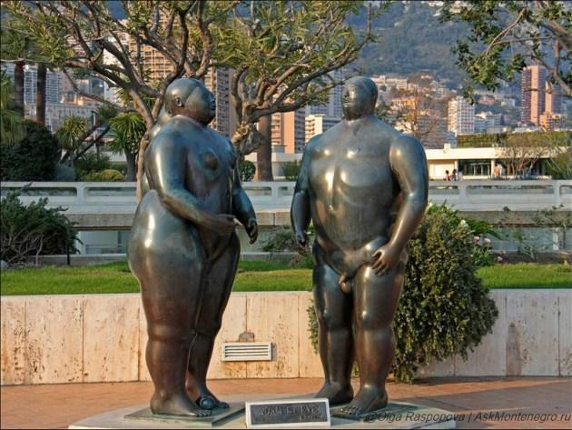 Адам и Ева - скульптура работы Ботеро