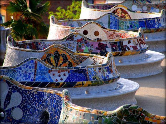 Барселона Гауди. Знаменитая скамья в парке Гуэля