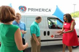 Primerica Donates Bio-Med Vehicle Red Cross