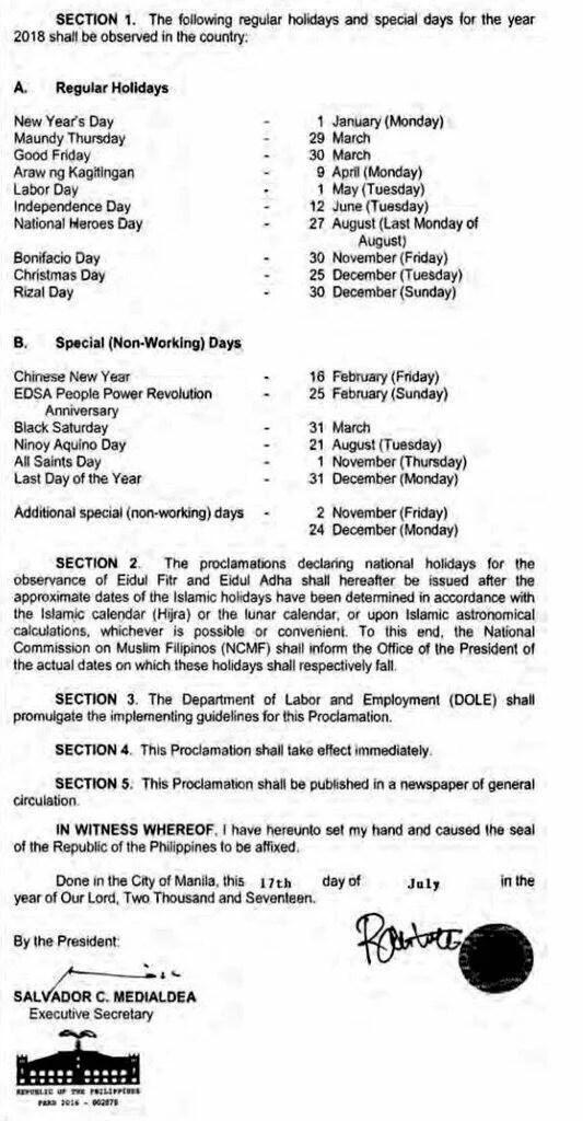 Proclamation 269 p1