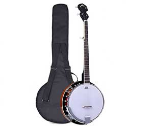 Pyle 5-String Geared Tunable Banjo with White Jade Tune Pegs & Rosewood Fretboard Polished Rich Wood Finish Maplewood Bridge Stand & Truss Rod Adjustment Tool (PBJ60) Review