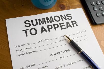 court summons