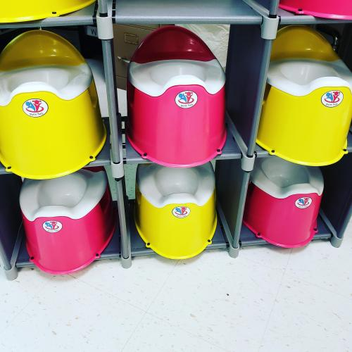 potty safe on shelves