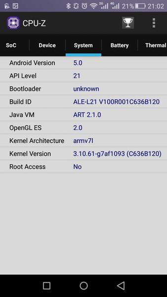 Huawei P8 Lite - CPU-Z 3