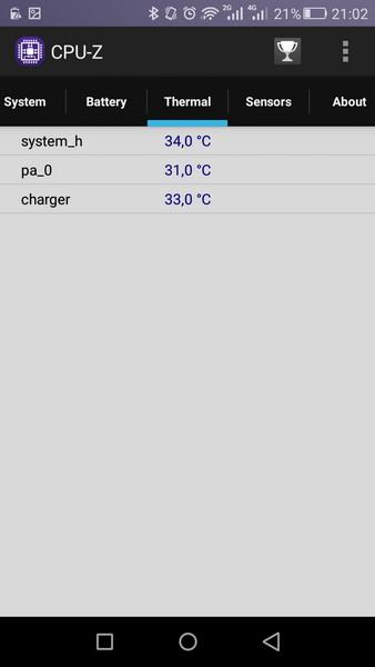 Huawei P8 Lite - CPU-Z 5