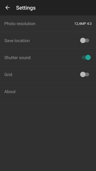 OnePlus X - Camera settings