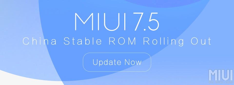 MIUI - 7.5