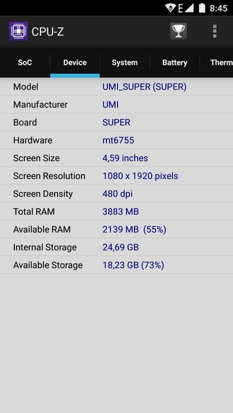 UMi Super Review - CPU-Z - 2