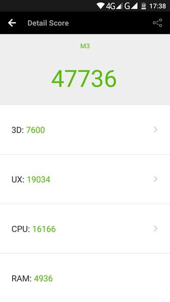 Elephone M3 Review - AnTuTu test