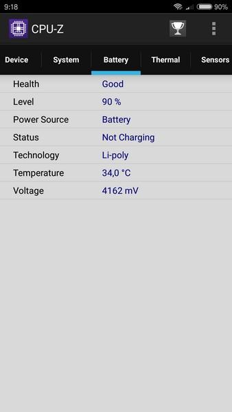 Xiaomi Redmi Pro Review - CPU Z