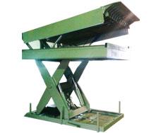 table à ciseaux élévatrice avec balustrades à ciseaux avec niveleur de quai